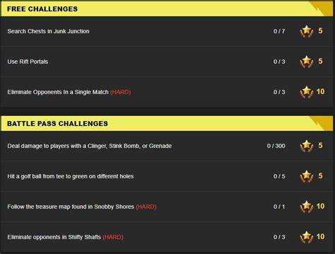 fortnite week 5 challenges fortnite season 5 week 5 leaked challenges fortnite insider