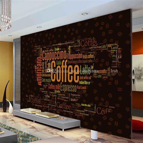 coffee letters wallpaper custom  wall mural fashion
