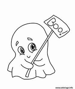 Dessin Facile Halloween : coloriage petit fantome mignon maternelle halloween ~ Melissatoandfro.com Idées de Décoration