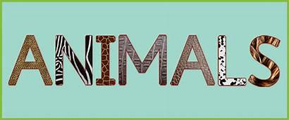 Animal Letters Word Animals Clipart Clip Textured