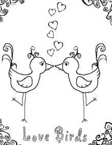 Love Birds Coloring Page