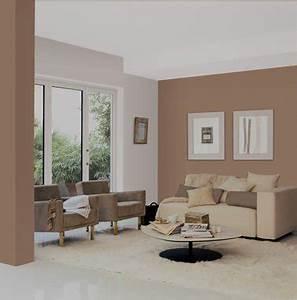 salon peinture rose et taupe canape couleur lin