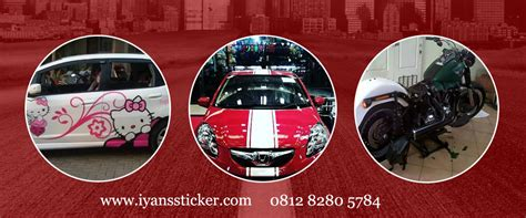 wrapping stiker mobil  motor kendaraan lebih kerren