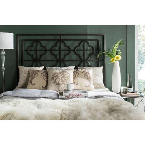 Safavieh Bed by Safavieh Lucina Gunmetal King Headboard Fox6215b K The