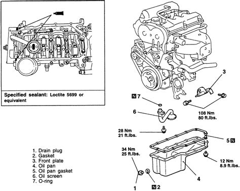 1995 Mitsubishi Mirage L Engine Diagram by Repair Guides Engine Mechanical Pan Autozone