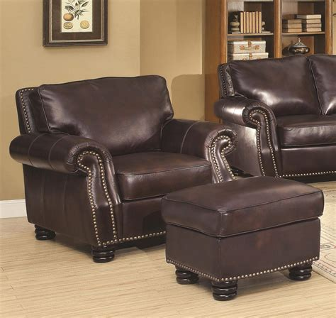 2 briscoe genuine leather chair ottoman usa