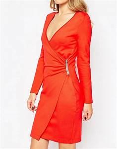 robe portefeuille rouge a avoir absolument pour l39ete With robe rouge orangée