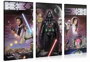 Star Wars Wandbild : star wars xxl leinwanddruck wandbilder 100x100cm original lizenzprodukt f r 25 95 inkl vsk ~ Eleganceandgraceweddings.com Haus und Dekorationen