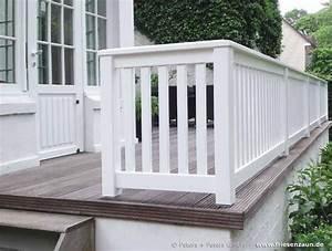 Geländer Holz Terrasse : gel nder f r terrasse und balkon hartholz wei lackiert terrasse sichtschutz ~ Watch28wear.com Haus und Dekorationen