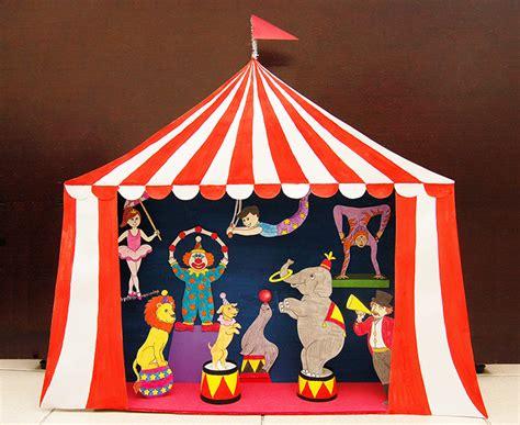 circus diorama  puppet theater kids crafts fun craft ideas firstpalettecom