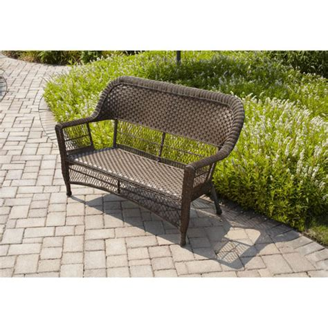 Walmart Mainstays Stacking Chairs by Mainstays Stacking Loveseat Brown Patio Furniture