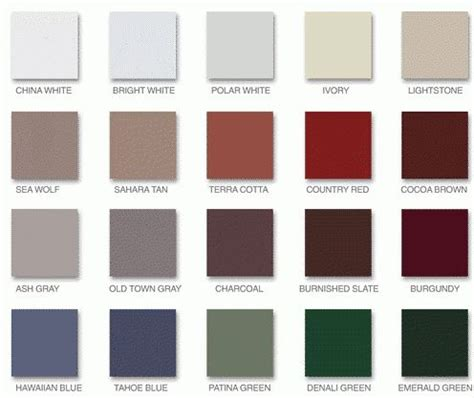 metal colors ash metal roof colors and grey on