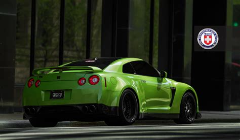 Nissan Gtr Wallpaper Green by Green Widebody Nissan Gtr From Jotech On Hre Wheels