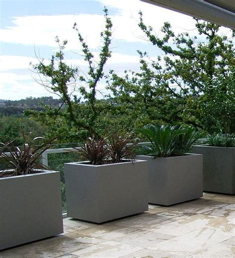 Modern Outdoor Planters by Eco Rectangle Planter Design Outdoor Planters