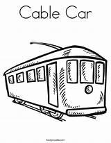 Cable Coloring Kereta Train Kabel California Outline Twistynoodle Built Usa Caboose Noodle Tracing Login Favorites sketch template