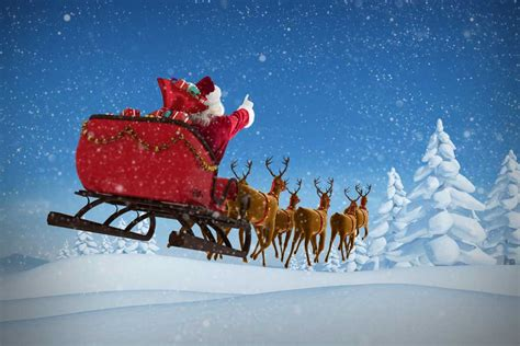 santa sleigh flying backdrop mybackdropcouk