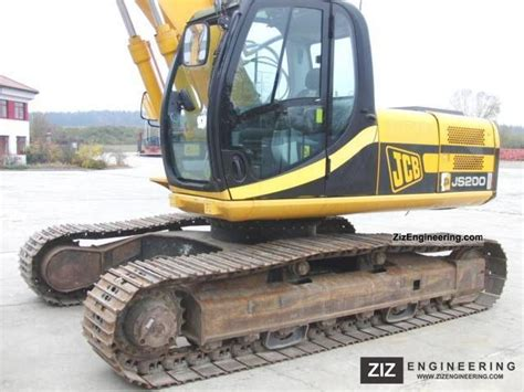 jcb js  excavator  caterpillar digger construction equipment photo  specs