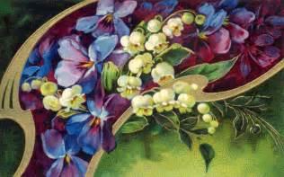 Vintage Purple Flower Clip Art Free