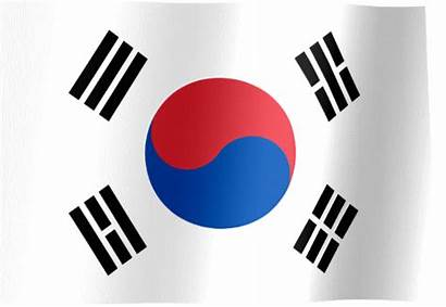 Korea Flag South Republic Waving Animated