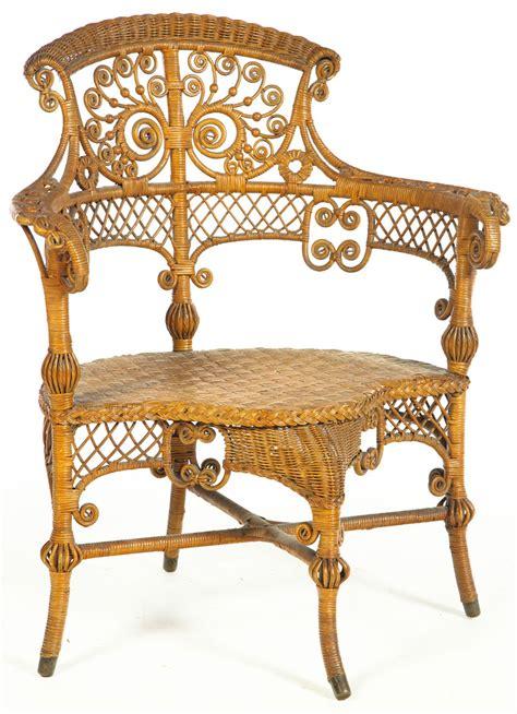 furniture wicker armchair heywood wakefield