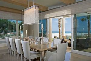 modern crystal chandelier dining room beach with beach With salle À manger contemporaine avec decoration interieur style scandinave