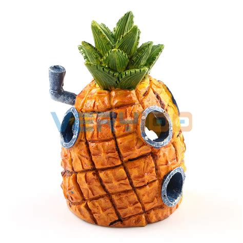 aquarium ornament home decoration spongebob squarepants pineapple house fish tank 12 5cm new in