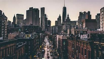 Street York Urban Cityscape Building Downtown Manhattan