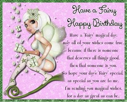 Birthday Fairy Happy Wishes Magical Card Greeting