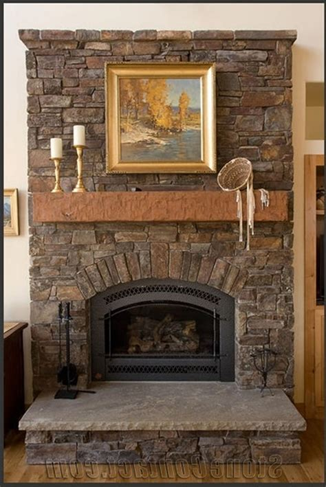 hearth decorations posh small spaces rustic interior decors added stacked brick and stones as fireplace hearth