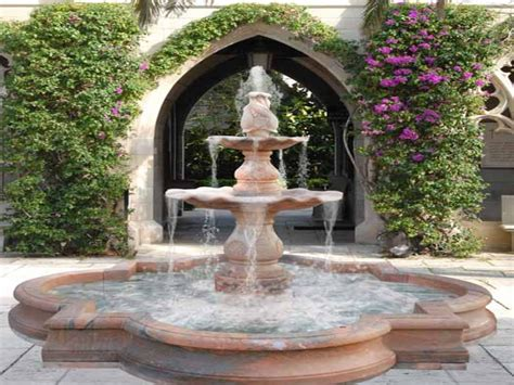 outside water fountains garden small water fountains