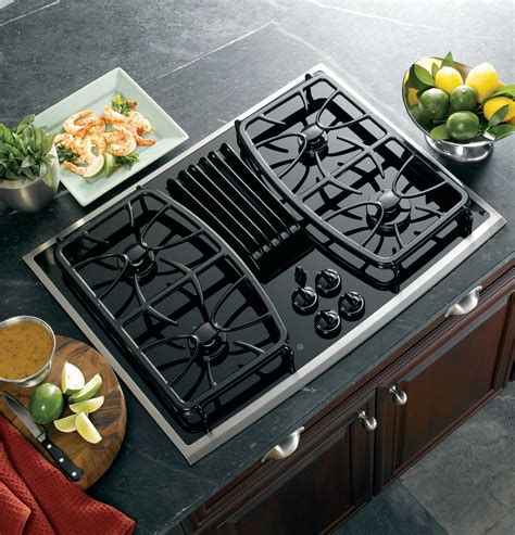 ge profile series  built  gas downdraft cooktop pgpsnss ge appliances