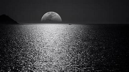 4k Monochrome Wallpapers Nature Sunset Dark Moon