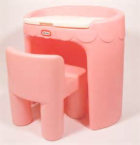 little tikes child size vanity desk chair vintage pink retired