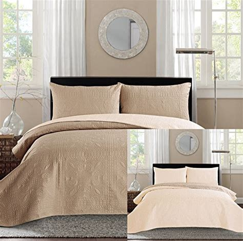 king bed luxury  piece taupe beige reversible