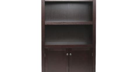 threshold carson 5 shelf bookcase with doors carson 5 shelf bookcase with doors espresso threshold