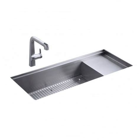 kitchen sinks drainer kohler stages single bowl and drainer undermount kitchen 6069