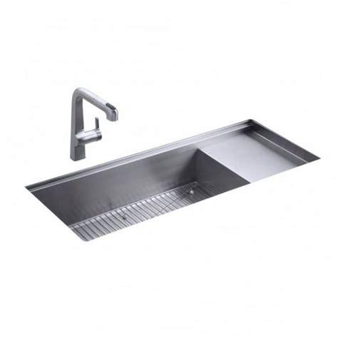 bowl drainer kitchen sink kohler stages single bowl and drainer undermount kitchen 9610