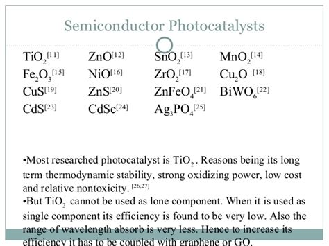 semiconductor based photocatalysts and synthesis and applications of graphene based ti o2