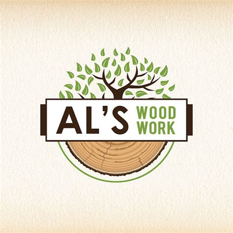 tree logo wood logo design woodworking
