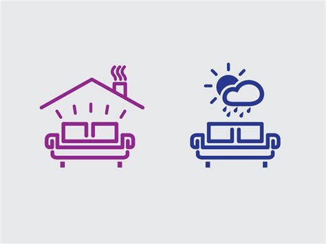 indoor outdoor furniture icons  alexander kusminov