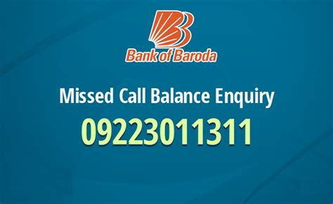 bank of baroda phone number bank of baroda bob balance enquiry missed call number