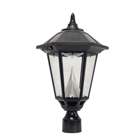 shop gama sonic 20 in h black solar led post light
