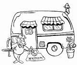Caravan Kleurplaat Vakantie Camper Kleurplaten Kleuren Flevoland sketch template