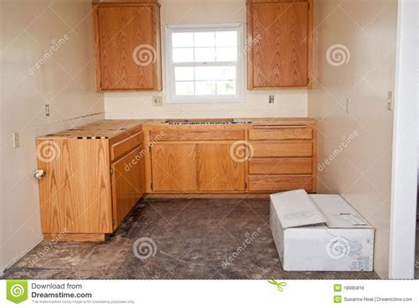 Kitchen Cabinets Without Countertop Royalty Free Stock