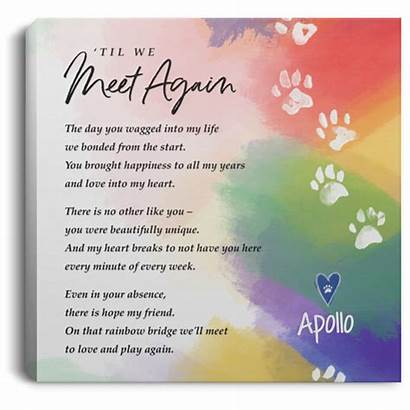 Meet Again Personalized Heart Pet Canvas Paw