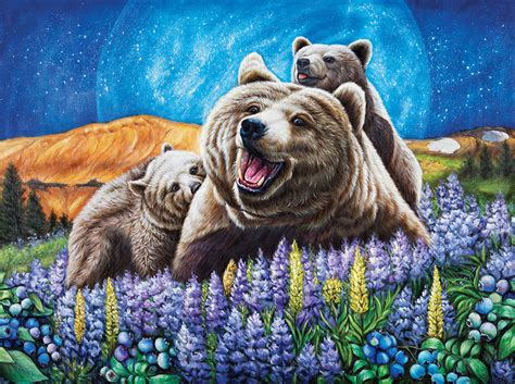 Blueberry Bears - 1000pc Jigsaw Puzzle by Lafayette Puzzle ...