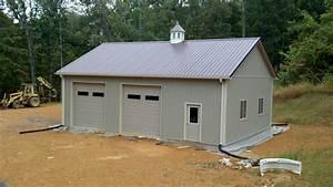 modern large orange and white pole barn garage kits with With discount garage kits