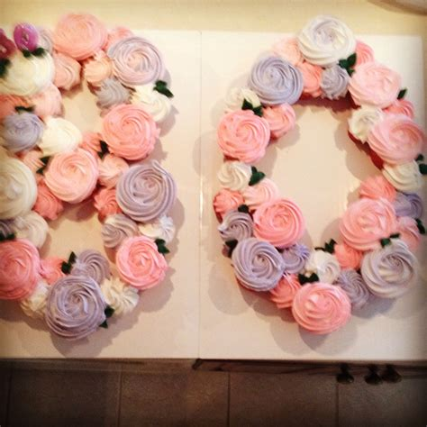 large 80th birthday number cake cupcake cake 80th birthday works for any numbers cake
