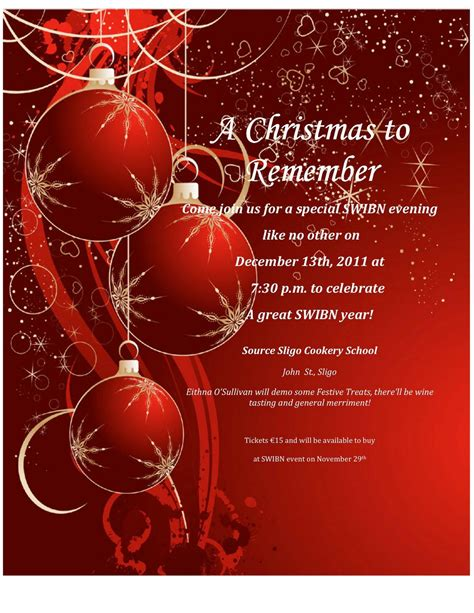 Christmas Dinner Invitations Wording Ideas