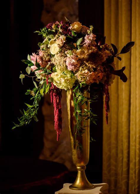 brown palace hotel fall burgundy  gold wedding cloud